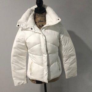 White puffer jacket size xs